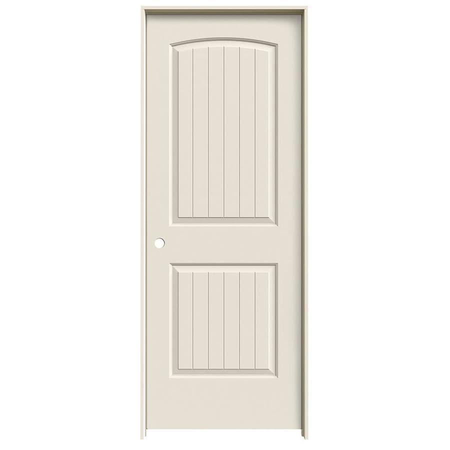 JELD-WEN 2-panel Round Top Plank Single Prehung Interior Door (Common: 30-in x 80-in; Actual: 31.562-in x 81.688-in)