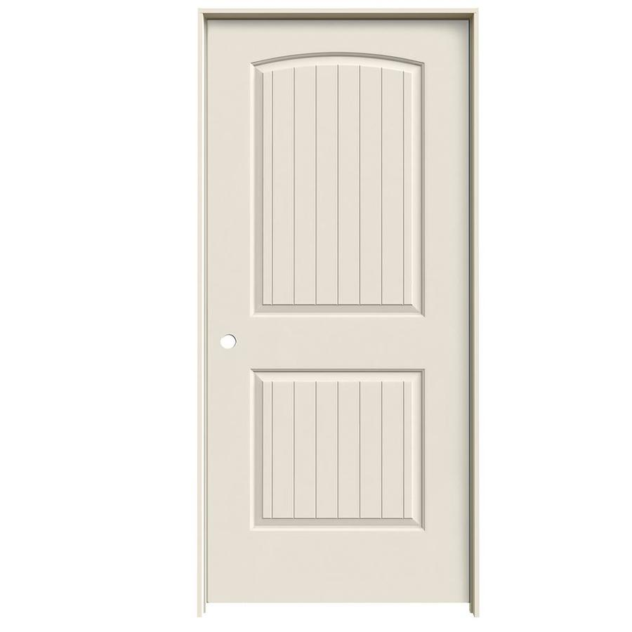 JELD-WEN Prehung Hollow Core 2-Panel Round Top Plank Interior Door (Common: 36-in x 80-in; Actual: 37.562-in x 81.688-in)