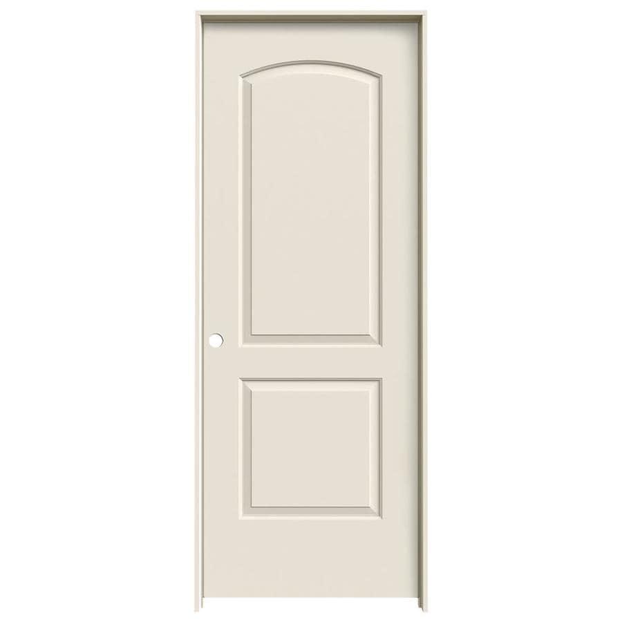 JELD-WEN Continental Primed Hollow Core Molded Composite Single Prehung Interior Door (Common: 32-in x 80-in; Actual: 33.562-in x 81.688-in)