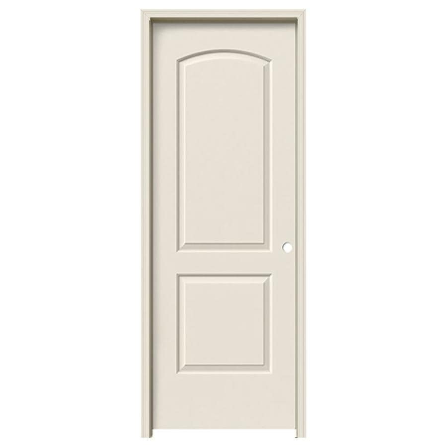 JELD-WEN Continental Primed Hollow Core Molded Composite Single Prehung Interior Door (Common: 24-in x 80-in; Actual: 25.562-in x 81.688-in)