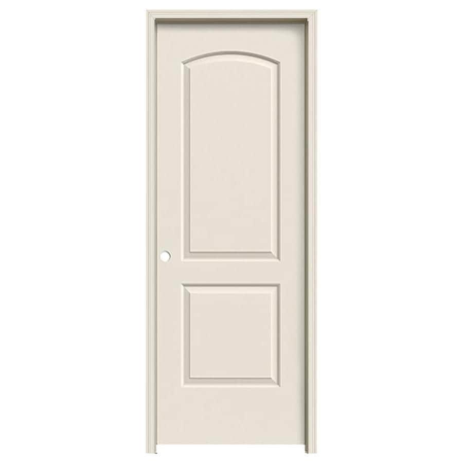 JELD-WEN Continental Primed Hollow Core Molded Composite Single Prehung Interior Door (Common: 28-in x 80-in; Actual: 29.562-in x 81.688-in)