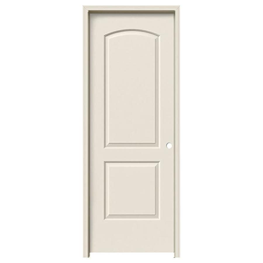 JELD-WEN Prehung Hollow Core 2-Panel Round Top Interior Door (Common: 32-in x 80-in; Actual: 33.562-in x 81.688-in)