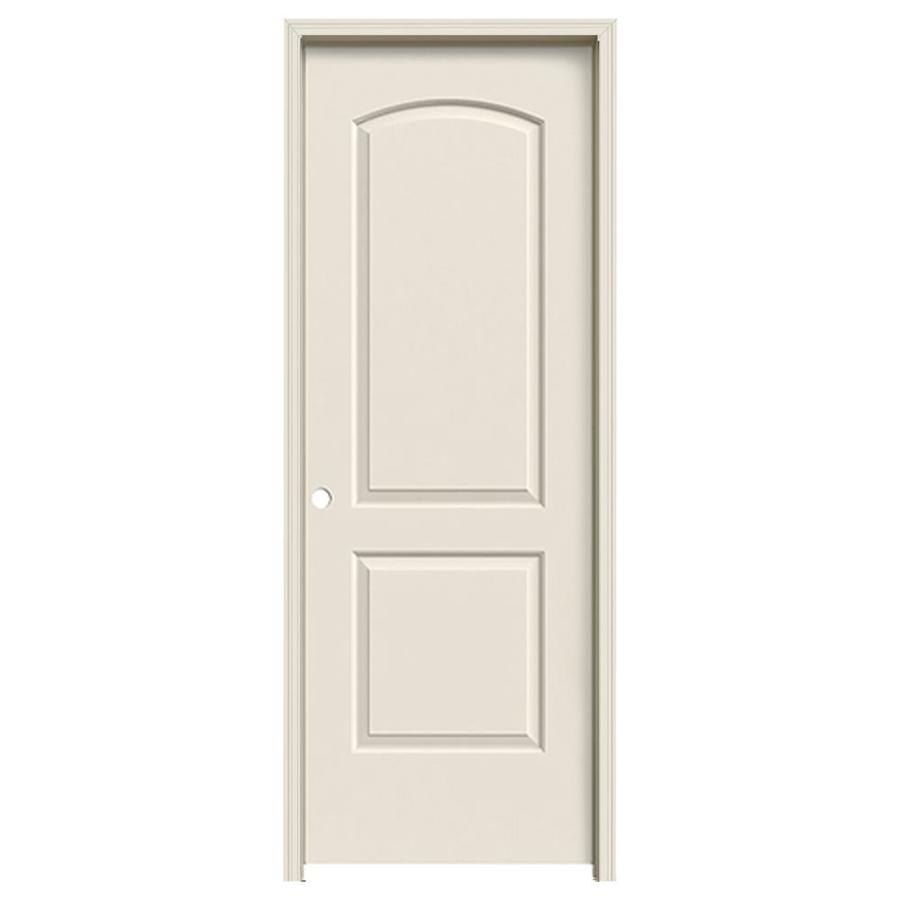 JELD-WEN 2-panel Round Top Single Prehung Interior Door (Common: 32-in x 80-in; Actual: 33.562-in x 81.688-in)