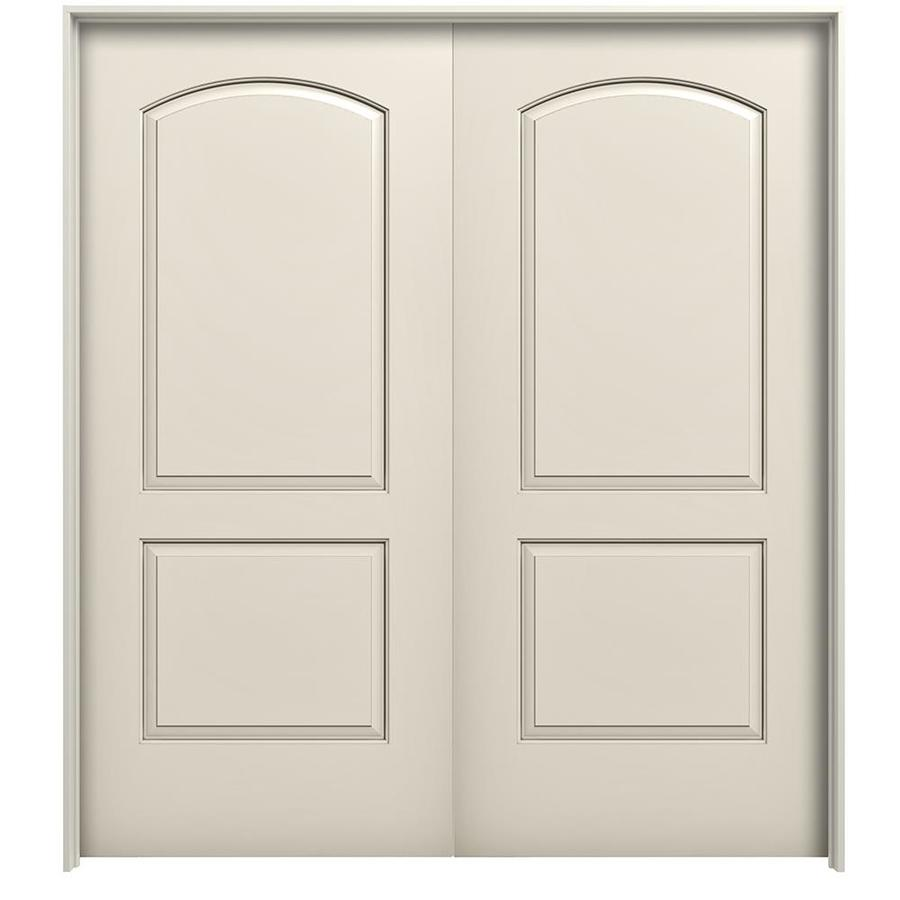 JELD WEN Continental Primed Hollow Core Molded Composite Single Prehung  Interior Door (Common: