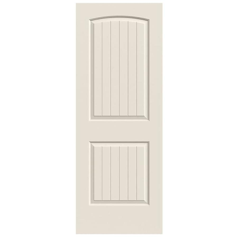 JELD-WEN Hollow Core 2-Panel Round Top Plank Slab Interior Door (Common: 24-in x 80-in; Actual: 24-in x 80-in)