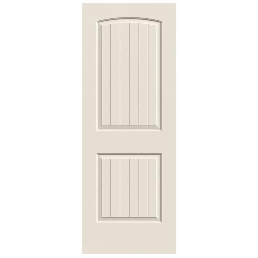 JELD-WEN Hollow Core 2-Panel Round Top Plank Slab Interior Door (Common: 28-in x 80-in; Actual: 28-in x 80-in)