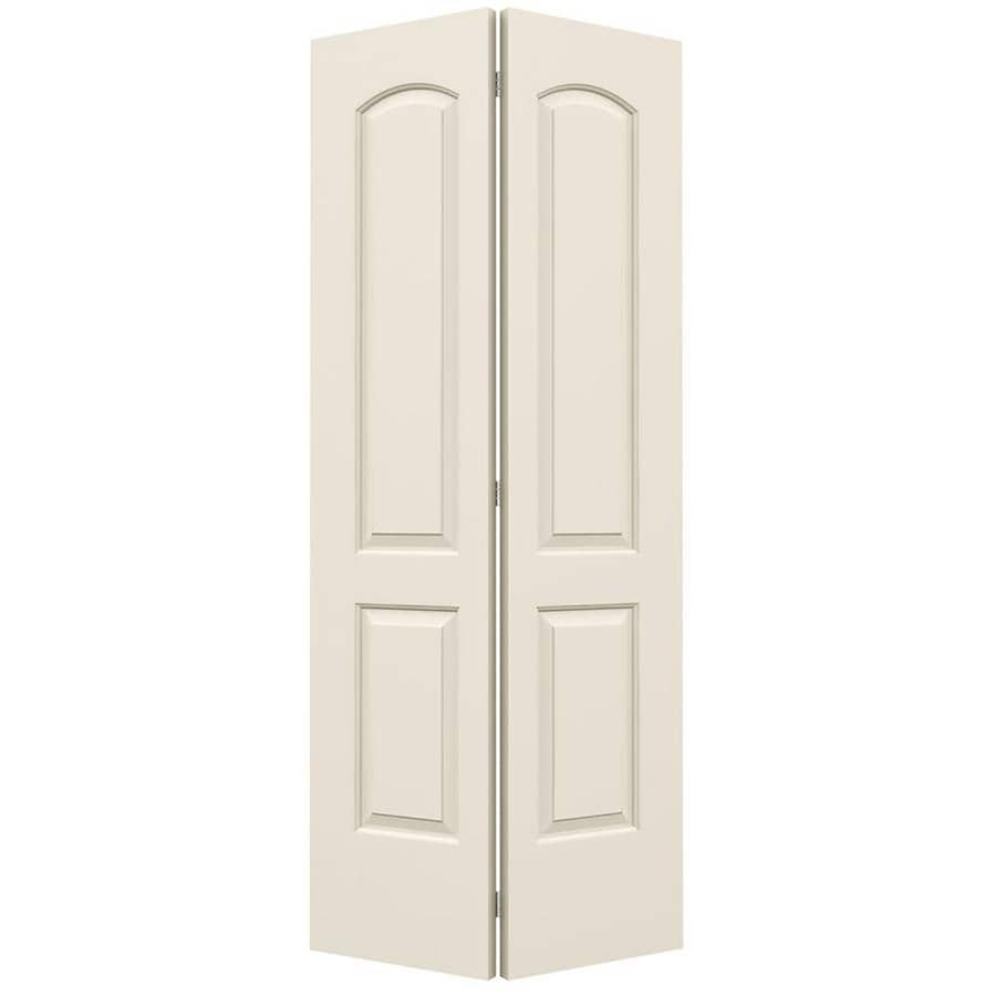 JELD-WEN Hollow Core 2-Panel Round Top Bi-Fold Closet Interior Door (Common: 36-in x 80-in; Actual: 35.5-in x 79-in)