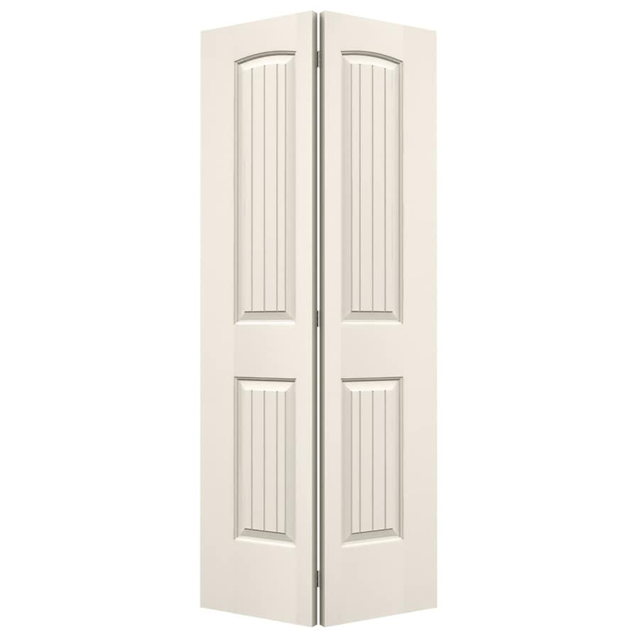 JELD-WEN Santa Fe Primed Hollow Core Molded Composite Bi-Fold Closet Interior Door with Hardware (Common: 24-in x 80-in; Actual: 23.5-in x 79-in)