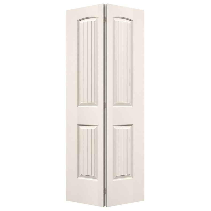 JELD-WEN Santa Fe Primed Hollow Core Molded Composite Bi-Fold Closet Interior Door with Hardware (Common: 30-in x 80-in; Actual: 29.5-in x 79-in)