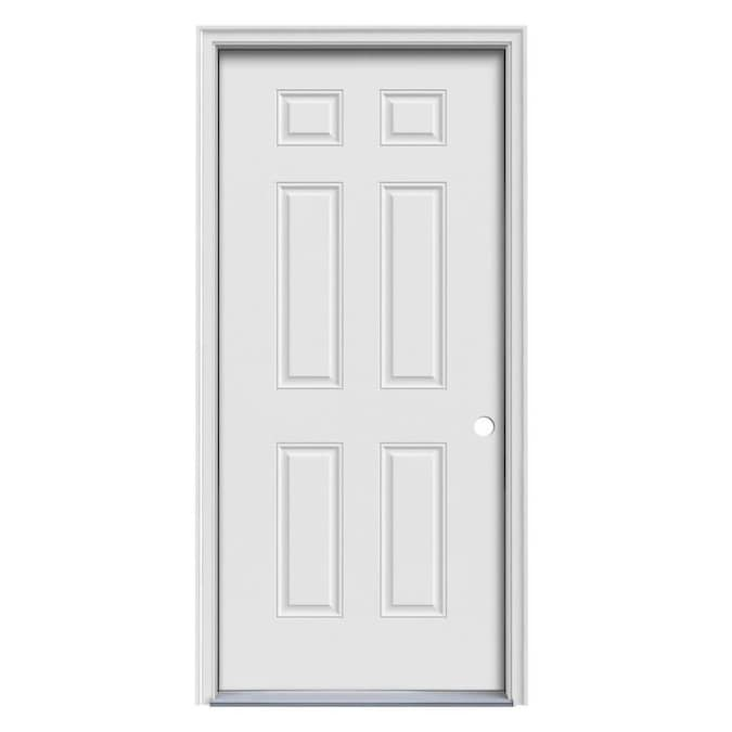 Jeld Wen 32 In X 80 In Steel Left Hand Inswing Primed Prehung Single Front Door Brickmould Included In The Front Doors Department At Lowes Com The interior or exterior door of your dreams may be cheaper than you expected. jeld wen 32 in x 80 in steel left hand inswing primed prehung single front door brickmould included