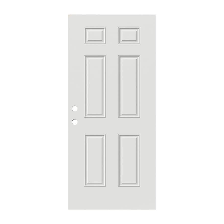 JELD-WEN Reversible Steel Primed Entry Door (Common: 36-in x 80-in; Actual: 36-in x 80-in)
