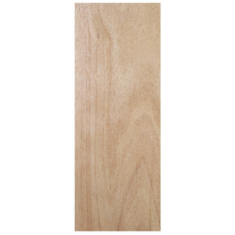 Shop jeld wen flush solid core wood lauan slab door for Solid wood doors lowes