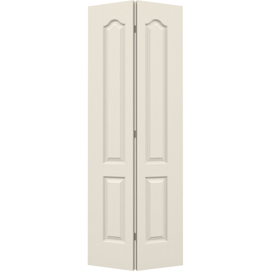 JELD-WEN Primed Hollow Core Molded Composite Bi-Fold Closet Interior Door with Hardware (Common: 30-in x 80-in; Actual: 29.5-in x 79-in)