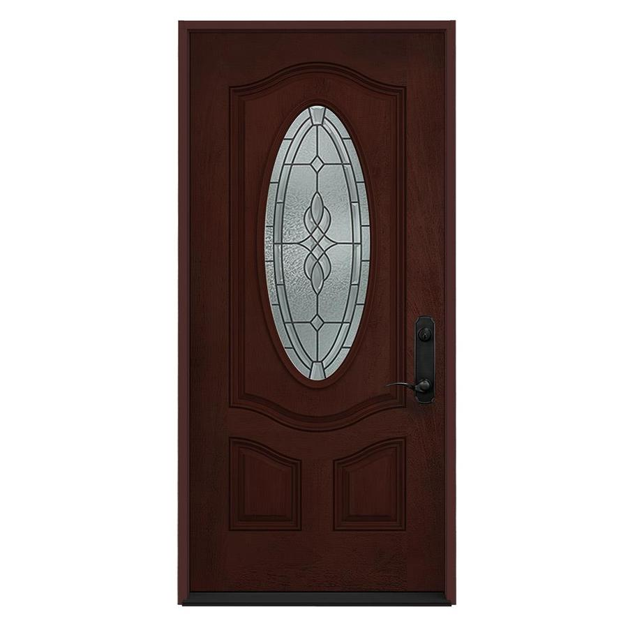 Full Oval Entry Door Lowes Shop Reliabilt 36 Left Hand