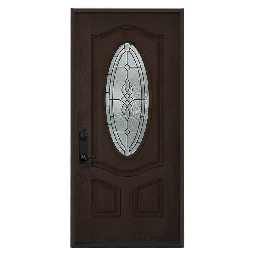 Shop Jeld Wen Hampton Oval Lite Decorative Glass Right