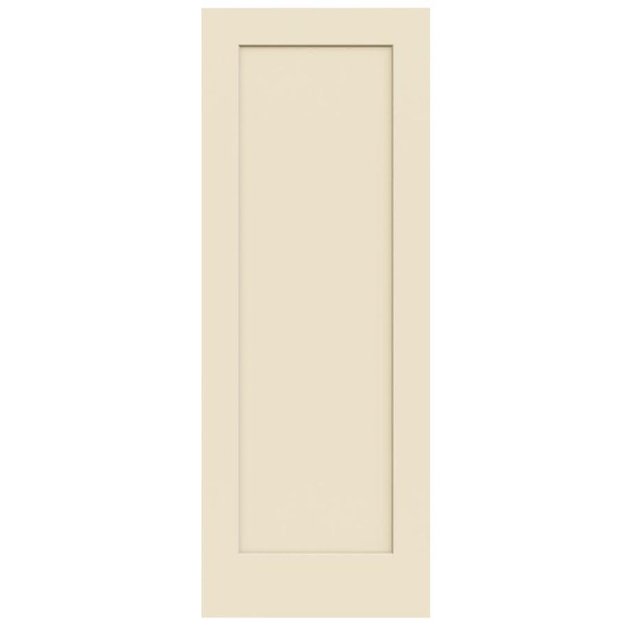 JELD-WEN Madison Cream-N-Sugar Hollow Core Molded Composite Slab Interior Door (Common: 30-in x 80-in; Actual: 30-in x 80-in)
