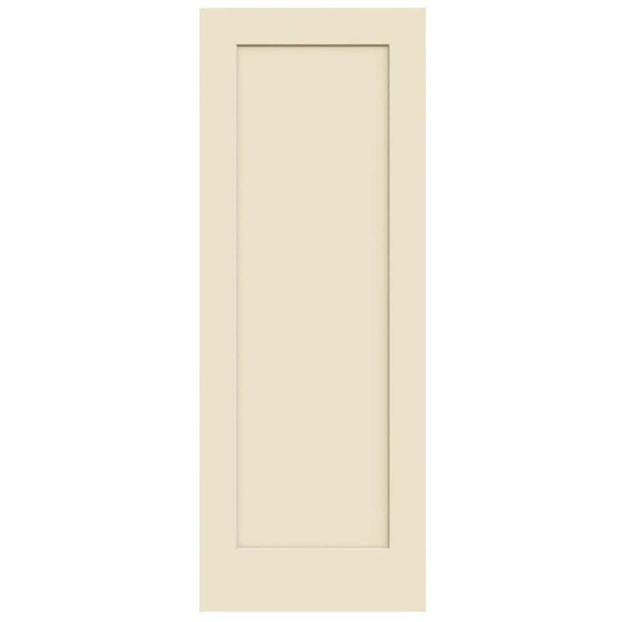 JELD-WEN Madison Cream-N-Sugar Solid Core Molded Composite Slab Interior Door (Common: 30-in x 80-in; Actual: 30-in x 80-in)