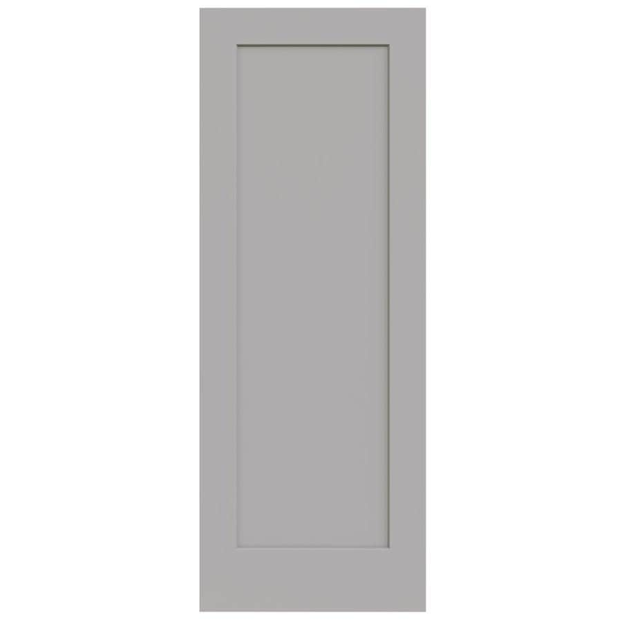 JELD-WEN Madison Driftwood Solid Core 1-Panel Slab Interior Door (Common: 30-in x 80-in; Actual: 30-in x 80-in)