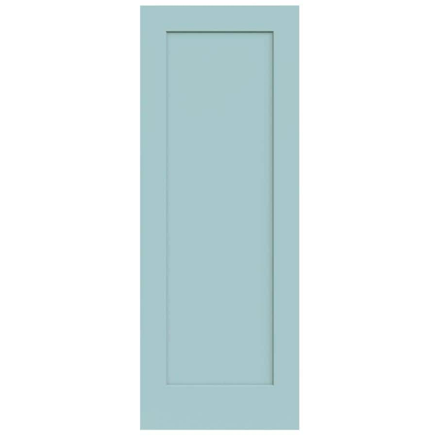 JELD-WEN Madison Sea Mist Solid Core 1-Panel Slab Interior Door (Common: 30-in x 80-in; Actual: 30-in x 80-in)