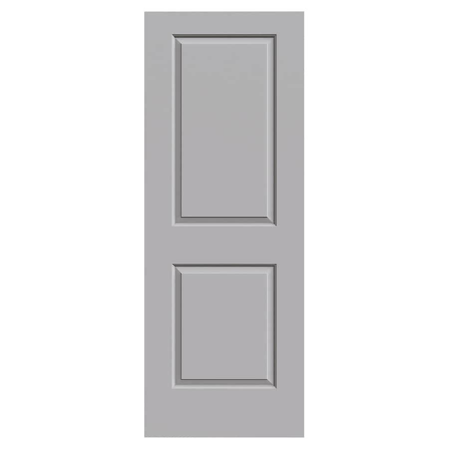 JELD-WEN Cambridge Driftwood Hollow Core 2-Panel Square Slab Interior Door (Common: 30-in x 80-in; Actual: 30-in x 80-in)