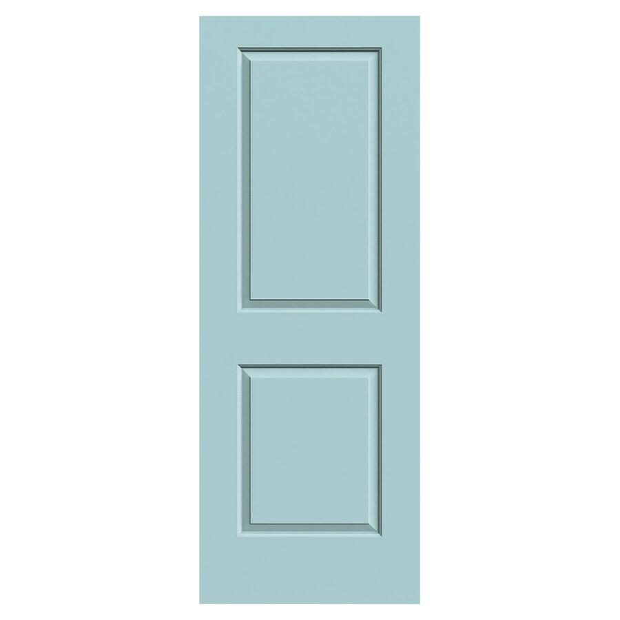 JELD-WEN Cambridge Sea Mist Hollow Core 2-Panel Square Slab Interior Door (Common: 30-in x 80-in; Actual: 30-in x 80-in)