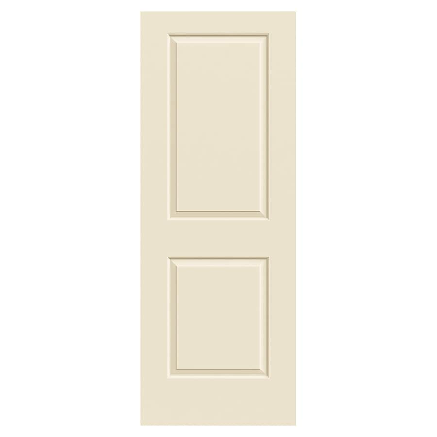 JELD-WEN Cambridge Cream-N-Sugar Molded Composite Slab Interior Door (Common: 30-in x 80-in; Actual: 30-in x 80-in)