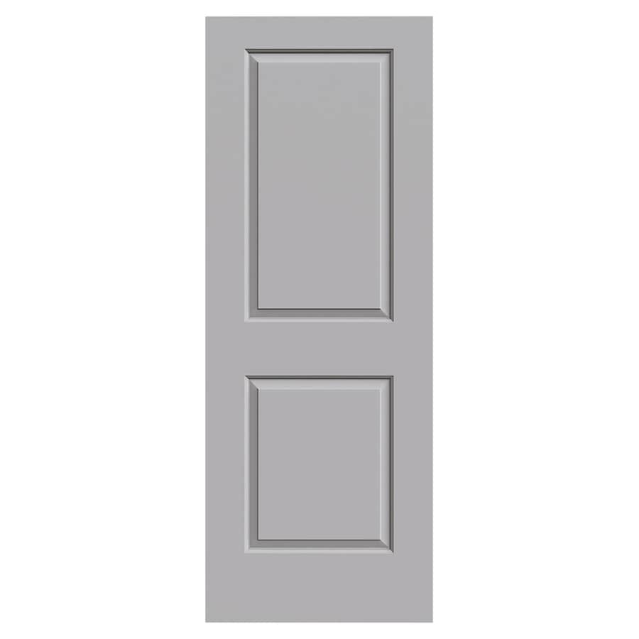JELD-WEN Cambridge Driftwood Solid Core 2-Panel Square Slab Interior Door (Common: 30-in x 80-in; Actual: 30-in x 80-in)