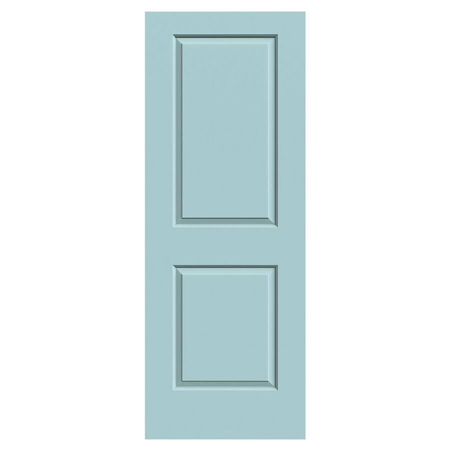 JELD-WEN Cambridge Sea Mist Solid Core 2-Panel Square Slab Interior Door (Common: 30-in x 80-in; Actual: 30-in x 80-in)