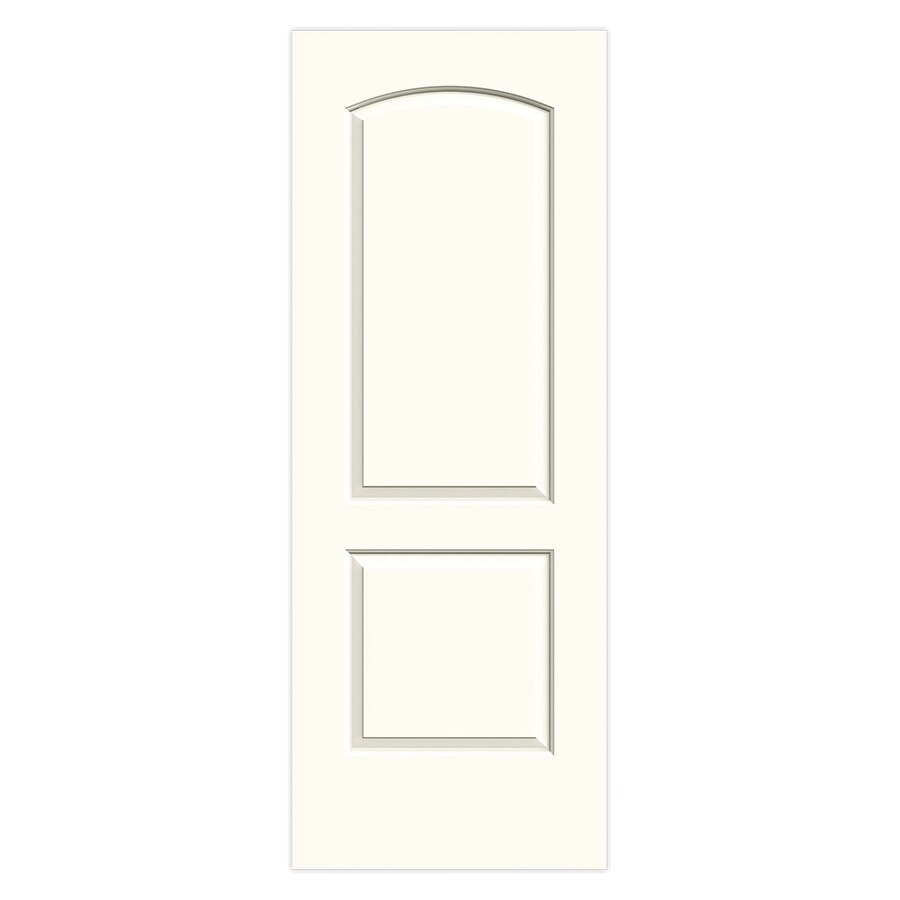 JELD-WEN Continental White Hollow Core 2-Panel Round Top Slab Interior Door (Common: 30-in x 80-in; Actual: 30-in x 80-in)