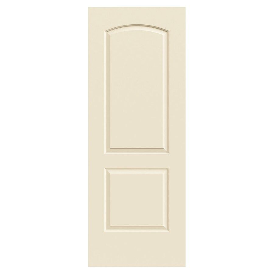 JELD-WEN Continental Cream-N-Sugar Hollow Core 2-Panel Round Top Slab Interior Door (Common: 30-in x 80-in; Actual: 30.0000-in x 80.0000-in)