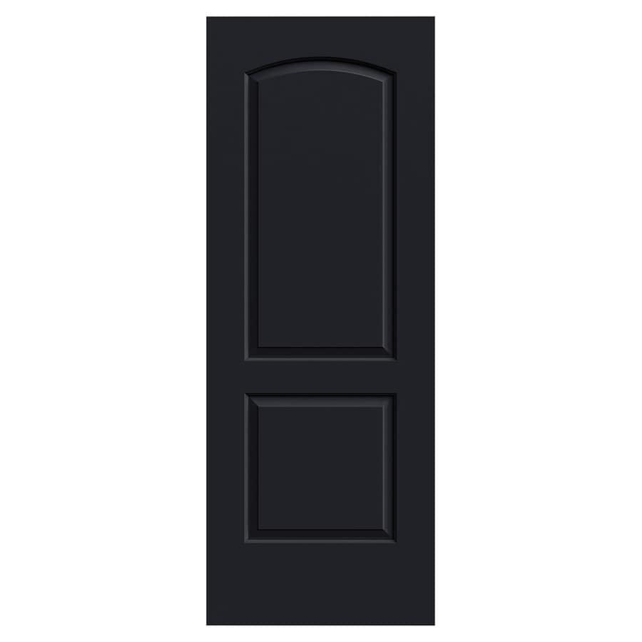 JELD-WEN Continental Midnight Hollow Core 2-Panel Round Top Slab Interior Door (Common: 30-in x 80-in; Actual: 30-in x 80-in)
