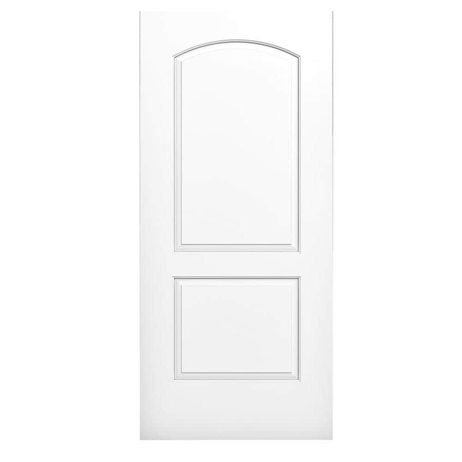 JELD-WEN Continental Solid Core 2-Panel Round Top Slab Interior Door (Common: 30-in x 80-in; Actual: 30-in x 80-in)