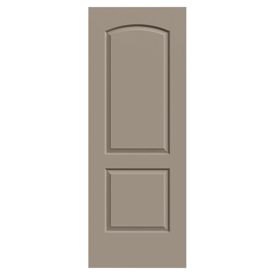 JELD-WEN Continental Sand Piper Solid Core 2-Panel Round Top Slab Interior Door (Common: 30-in x 80-in; Actual: 30-in x 80-in)