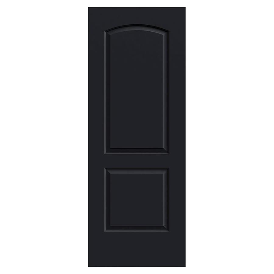 JELD-WEN Continental Midnight Solid Core 2-Panel Round Top Slab Interior Door (Common: 30-in x 80-in; Actual: 30-in x 80-in)