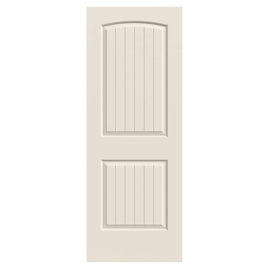 JELD-WEN Santa Fe Hollow Core 2-Panel Round Top Plank Slab Interior Door (Common: 30-in x 80-in; Actual: 30-in x 80-in)