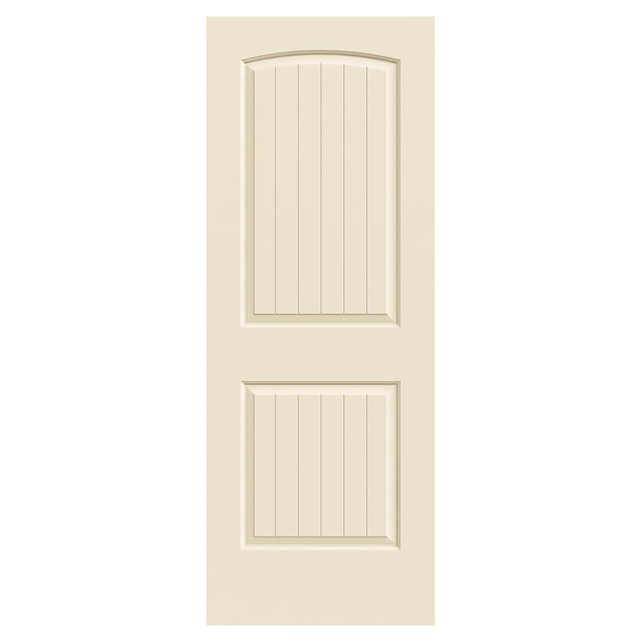 JELD-WEN Santa Fe Cream-N-Sugar Hollow Core Molded Composite Slab Interior Door (Common: 30-in X 80-in; Actual: 30-in x 80-in)