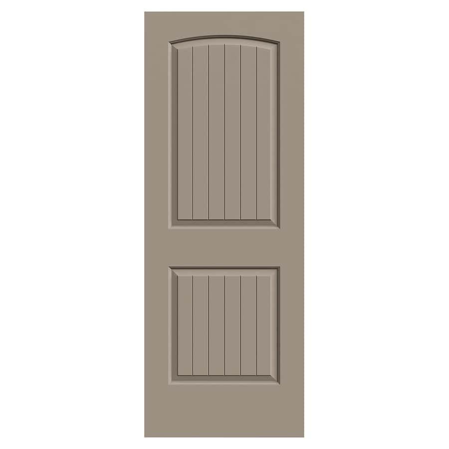 JELD-WEN Santa Fe Sand Piper Hollow Core 2-Panel Round Top Plank Slab Interior Door (Common: 30-in x 80-in; Actual: 30-in x 80-in)