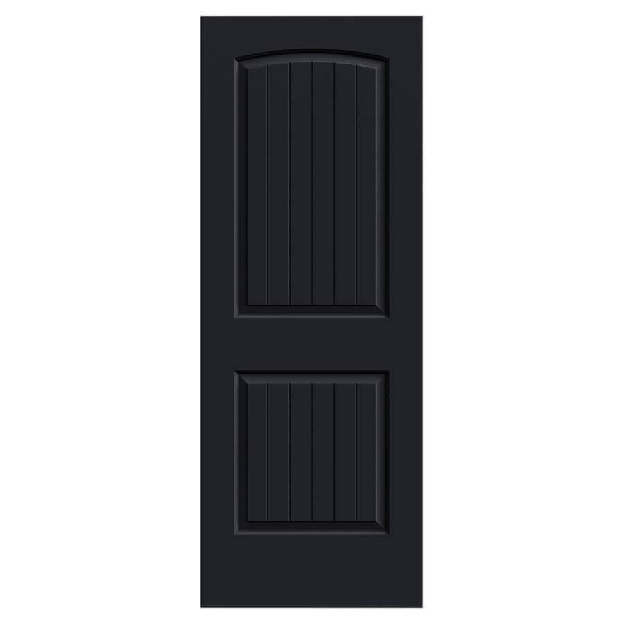 JELD-WEN Santa Fe Midnight Hollow Core 2-Panel Round Top Plank Slab Interior Door (Common: 30-in x 80-in; Actual: 30-in x 80-in)