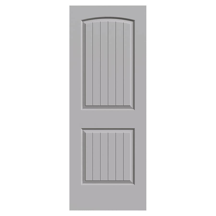 Jeld Wen Santa Fe Driftwood 2 Panel Round Top Plank Solid Core Molded Composite Slab Door Common 30 In X 80 Actual
