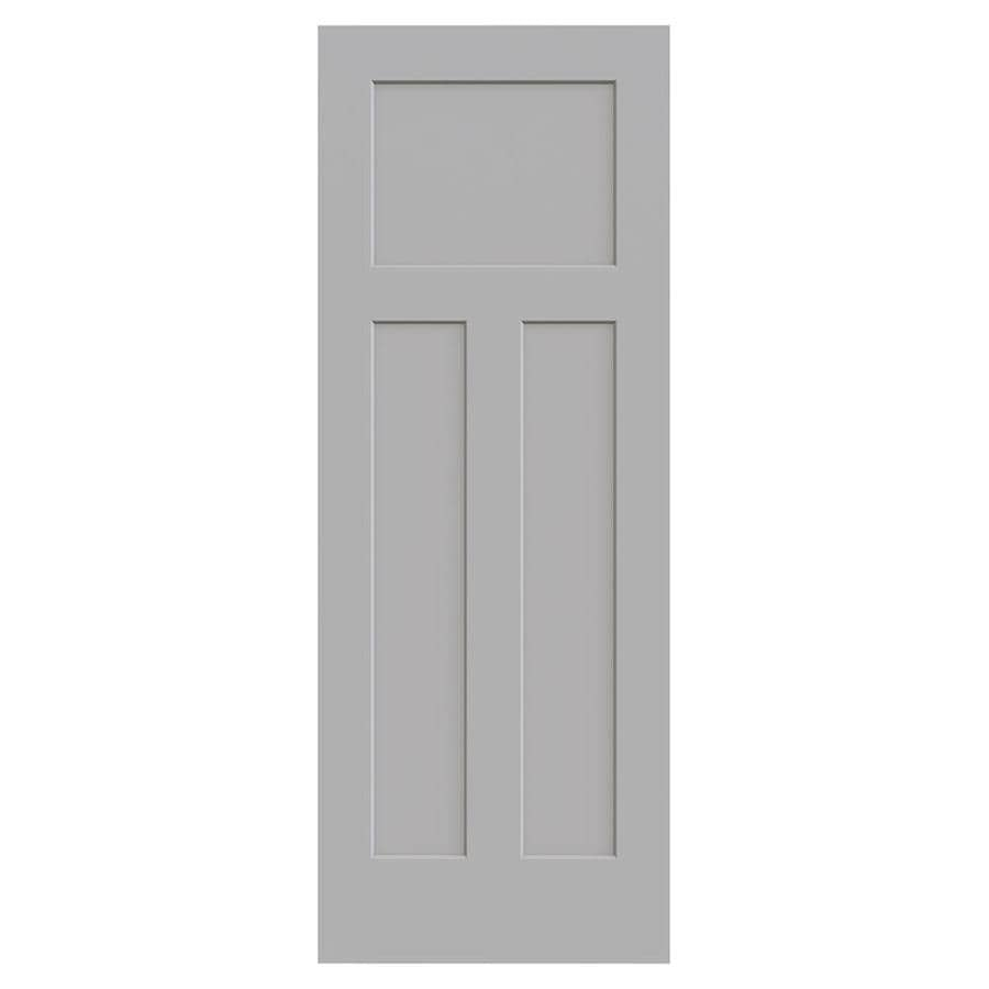 JELD-WEN Craftsman Driftwood Hollow Core 3-Panel Craftsman Slab Interior Door (Common: 30-in x 80-in; Actual: 30-in x 80-in)
