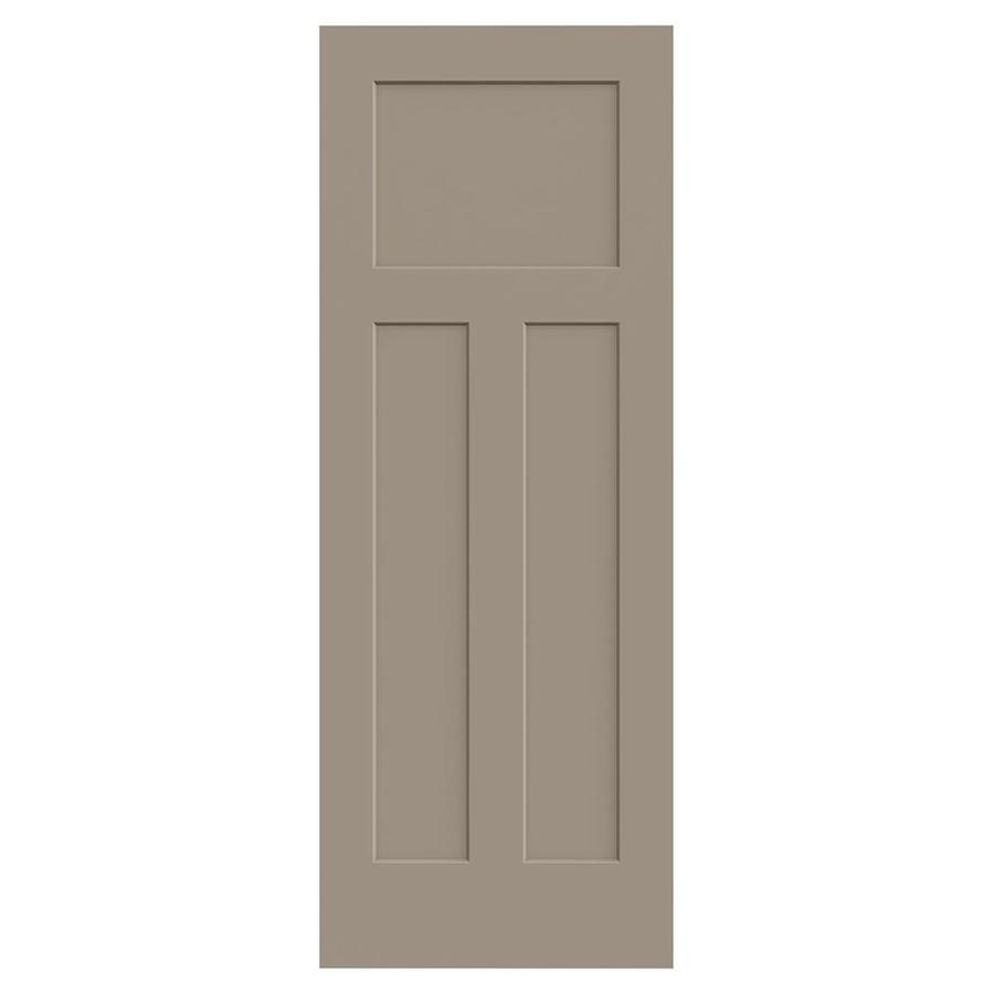 JELD-WEN Craftsman Sand Piper Hollow Core 3-Panel Craftsman Slab Interior Door (Common: 30-in x 80-in; Actual: 30-in x 80-in)