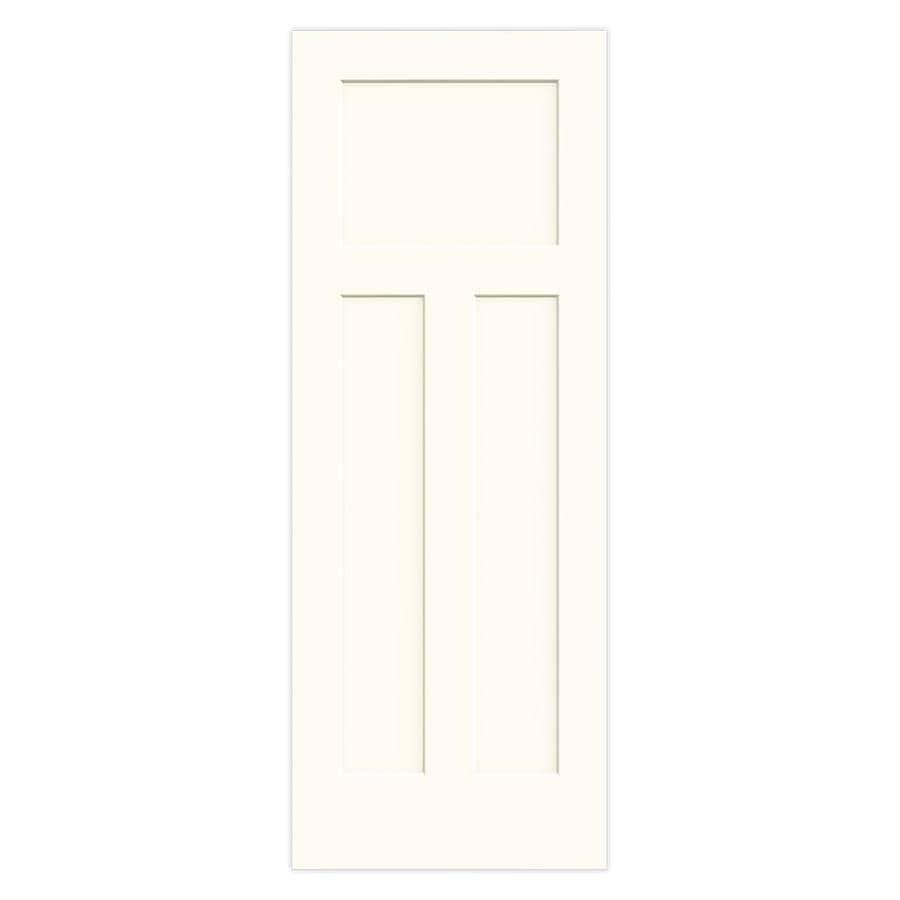 JELD-WEN Craftsman White Solid Core 3-Panel Craftsman Slab Interior Door (Common: 30-in x 80-in; Actual: 30-in x 80-in)