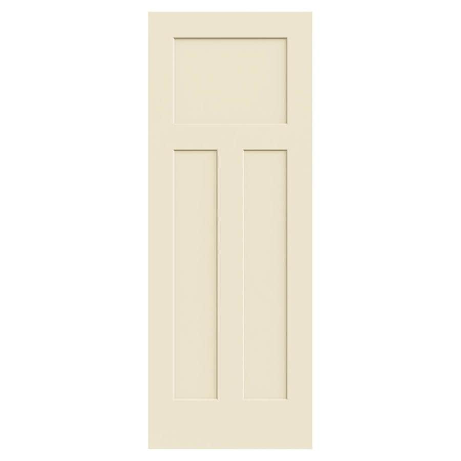 JELD-WEN Craftsman Cream-N-Sugar Solid Core 3-Panel Craftsman Slab Interior Door (Common: 30-in x 80-in; Actual: 30.0000-in x 80.0000-in)