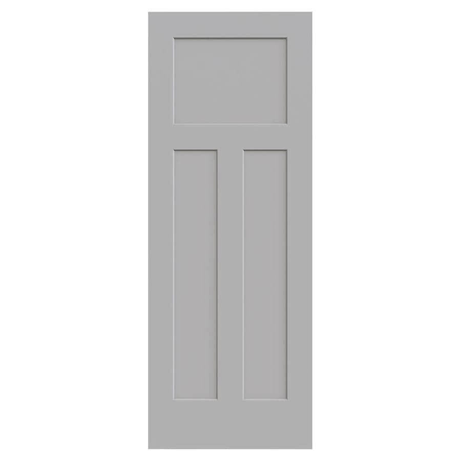 Shop Jeld Wen Craftsman Driftwood Solid Core 3 Panel Craftsman Slab Interior Door Common 30 In