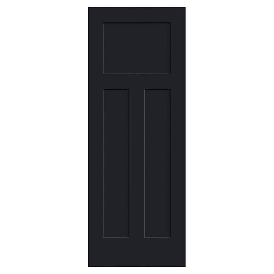 JELD-WEN Craftsman Midnight Solid Core 3-Panel Craftsman Slab Interior Door (Common: 30-in x 80-in; Actual: 30-in x 80-in)