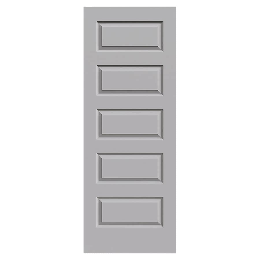 JELD-WEN Rockport Driftwood Hollow Core 5-Panel Equal Slab Interior Door (Common: 30-in x 80-in; Actual: 30-in x 80-in)
