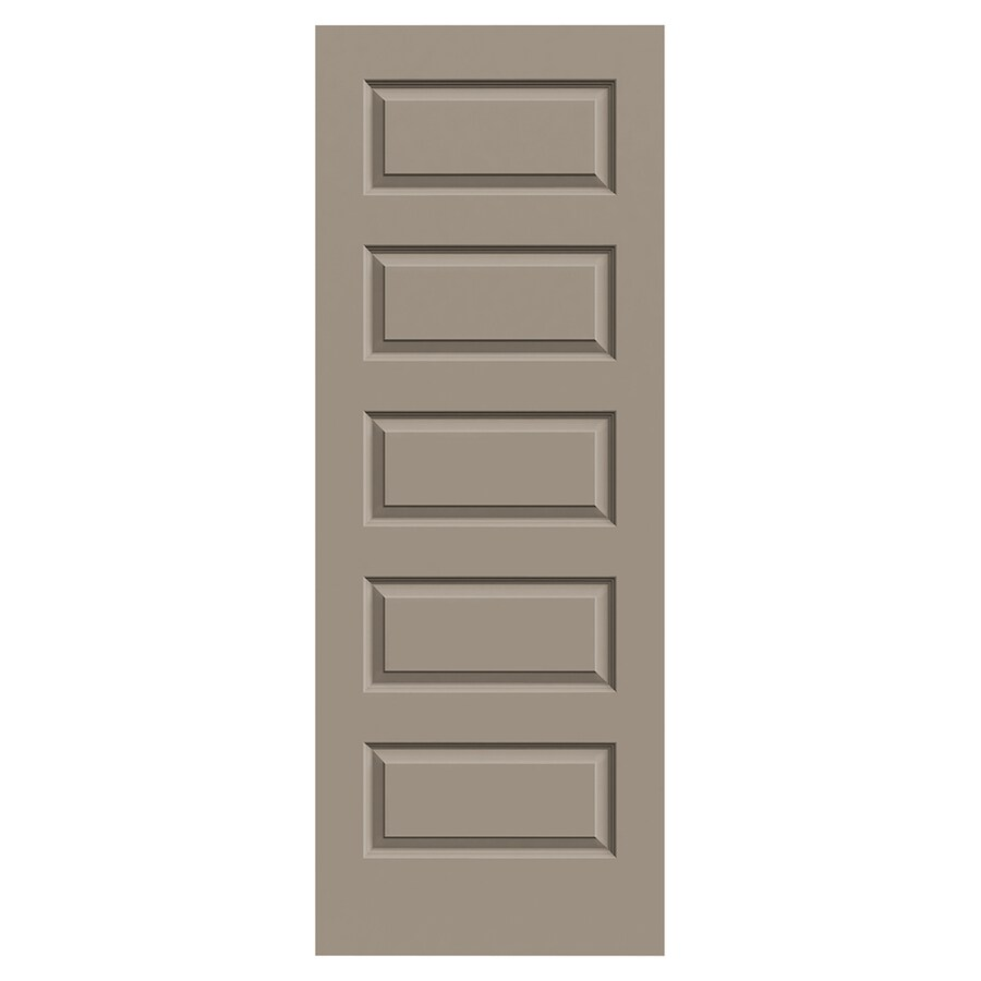 JELD-WEN Madison Sand Piper Solid Core 5-Panel Equal Slab Interior Door (Common: 30-in x 80-in; Actual: 30-in x 80-in)