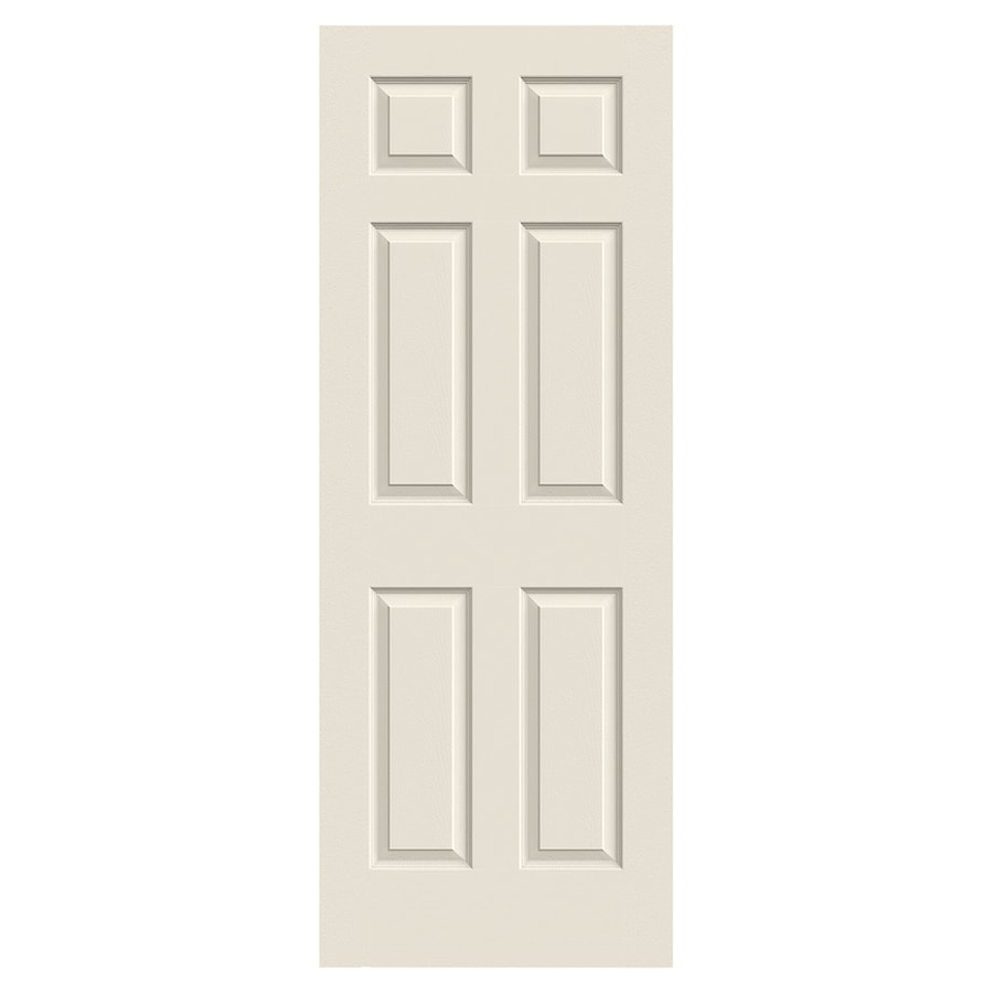 JELD-WEN Colonist Solid Core 6-Panel Slab Interior Door (Common: 30-in x 80-in; Actual: 30-in x 80-in)