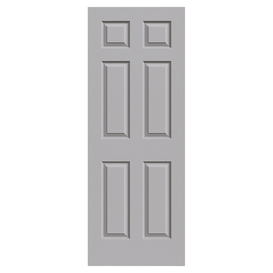 JELD-WEN Colonist Driftwood Solid Core 6-Panel Slab Interior Door (Common: 30-in x 80-in; Actual: 30-in x 80-in)