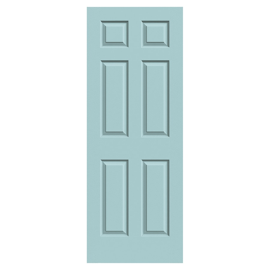 JELD-WEN Colonist Sea Mist Solid Core 6-Panel Slab Interior Door (Common: 30-in x 80-in; Actual: 30-in x 80-in)